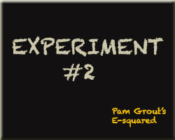 E Squared by Pam Grout -- Experiment 2